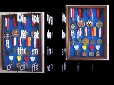 Race Medal Shadow Box Medal Display Case Shadow Box