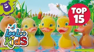 Five Little Ducks - TOP 15 Songs for Kids on YouTube