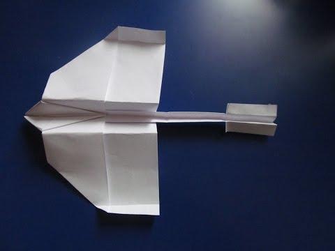 Как из бумаги сделать самолёт ласточку