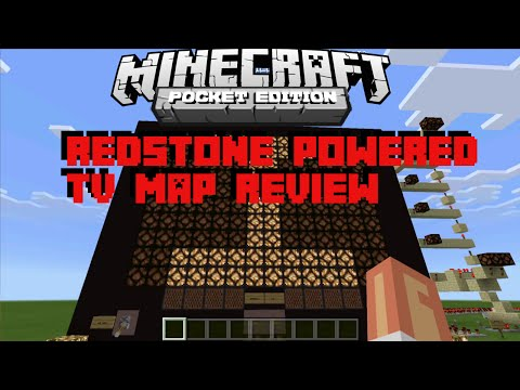 Redstone Powered TV - Minecraft Pocket Edition 0.14.0 Map Review