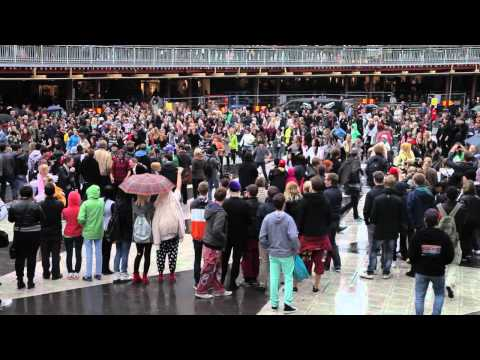 PSY - Gangnam Style (강남스타일) FLASHMOB Stockholm 2012