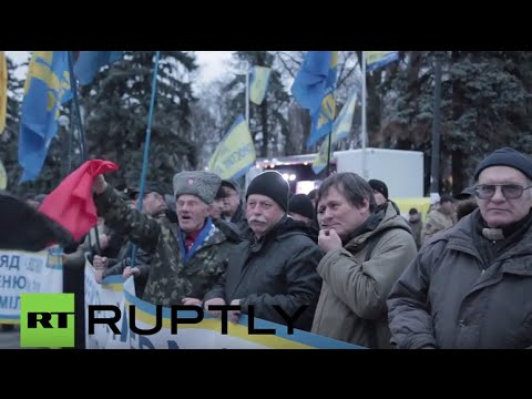 Ukraine: Protests continue in Kiev against embattled PM Yatsenyuk