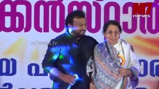 Kanjanamala and singer Maqbool Mansoor (Ennu Ninte Moideen) Meet at Thekken Star Award Night