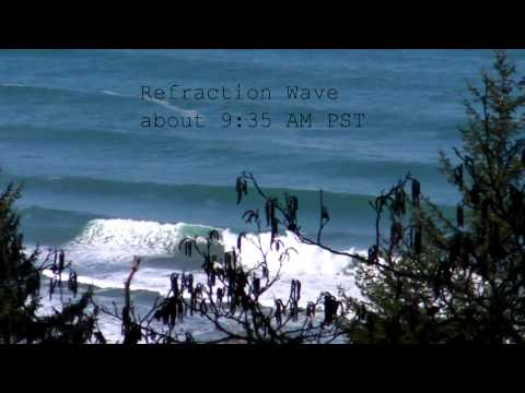 3/11/2011 Tsunami Footage from Gold Beach Oregon, USA