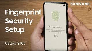 How to use fingerprint security on your Galaxy S10e | Samsung US