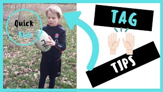 Tag Rugby Tips Catch and Throw- Quick Kids