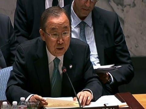 UN Secretary-General Urges Mideast Ceasefire