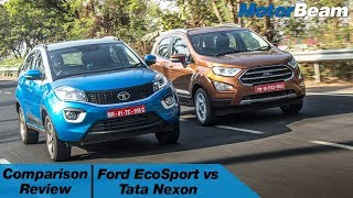 Tata Nexon vs Ford EcoSport - Comparison Review | MotorBeam