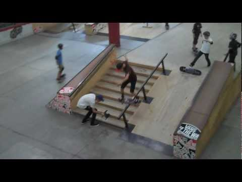 Boardslide nollie 270 shove out down rail - Ethan Loy