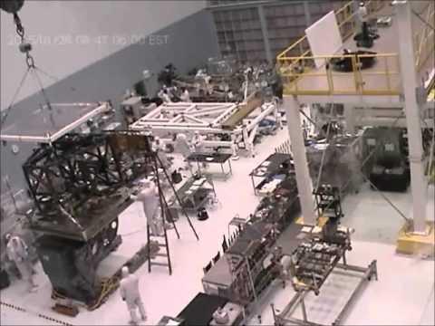 Time-lapse: James Webb Space Telescope Instrument Module Move