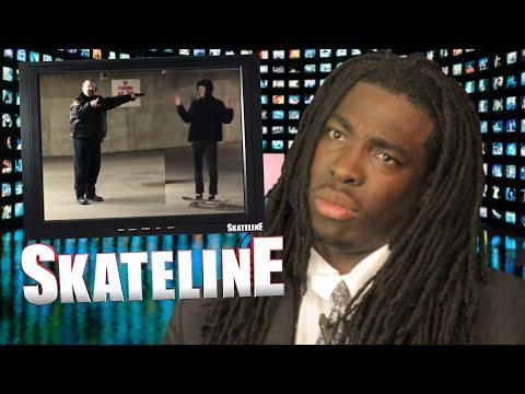 SKATELINE - Shane Oneill XAE A-12, Milton Martinez, Cop Pulls Gun On Skaters, David Gravette