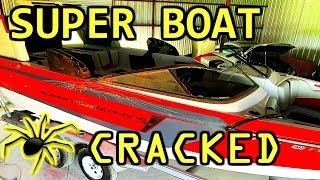 Spider Cracks All Over My Super Boat! Wrecked and Flooded Copart Rebuild Part 4