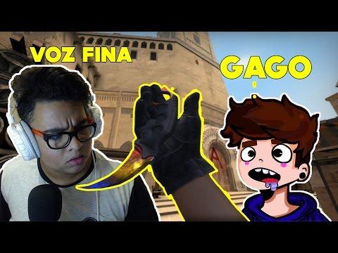 1 GAGO E 1 VOZ FINA NO COMPETITIVO - CSGO