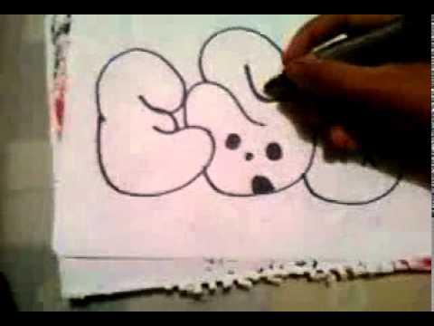 como hacer un graffiti - YouTube