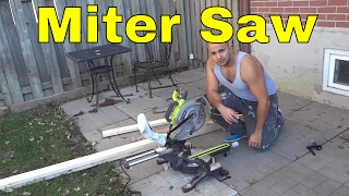 How To Use A Miter Saw-FULL Tutorial