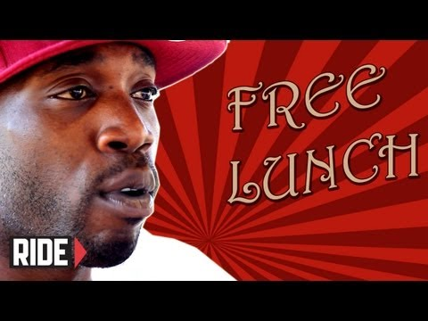 Stevie Williams gets Sponsored and Chased by Nazis on Free Lunch