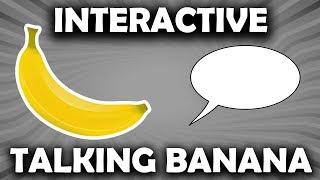 Talking Banana Robot - Read Description - It's Banana Sunday! - Chat Controlled