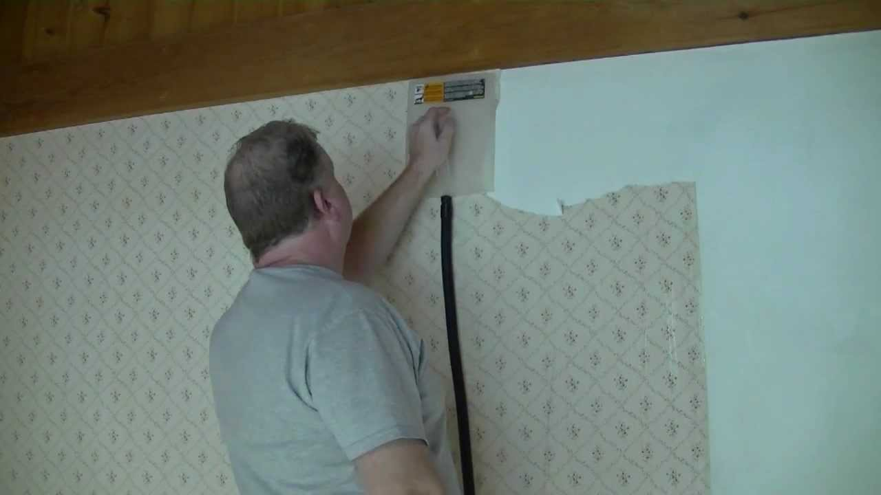 how to remove wallpaper paste from the wall