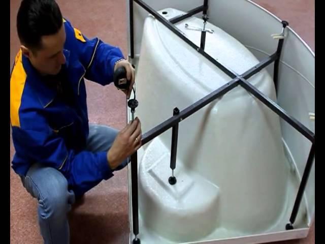 Как установить угловую ванну своими руками