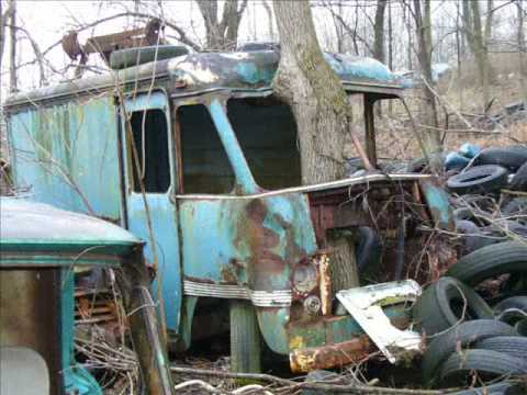 Trees in junkyards - art