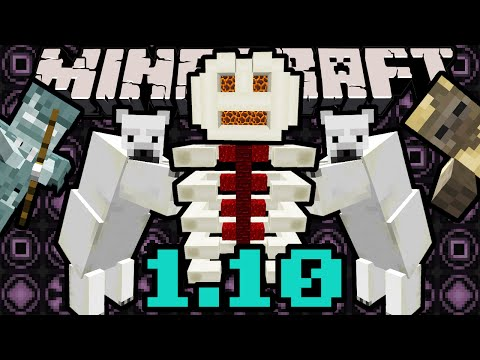 Minecraft 1.10 Snapshot: Polar Bear & Cubs, Husk Zombie, Stray Skeleton, Bone Fossils, Magma Blocks