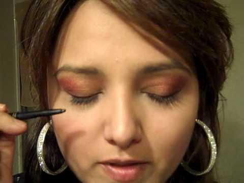 GabyTips, maquillaje de ojos ahumados, negro, cafe, rojo  y dorado