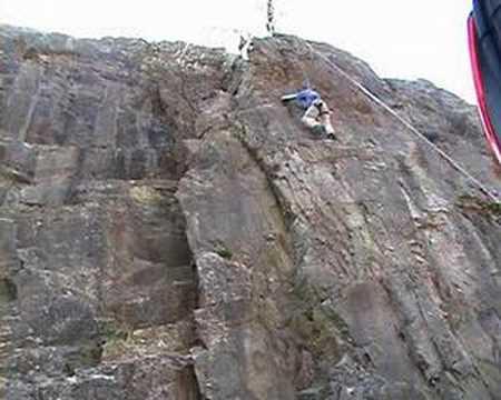 Climbing in Cheddar Gorge