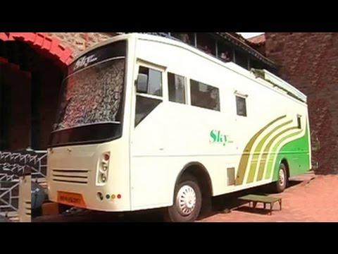 A bus as war-room, office and home for Chandrababu Naidu