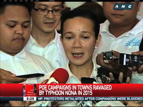 Grace Poe campaigns in typhoon-ravaged Northern Samar