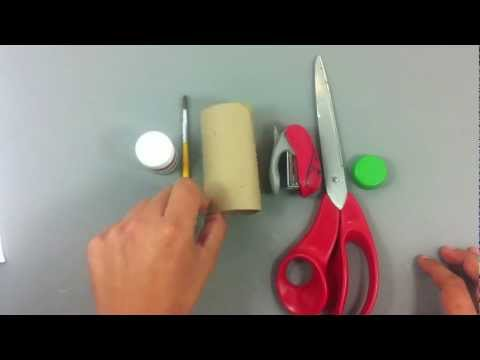 Flor con tubo de papel higiénico - Manualidades para niños