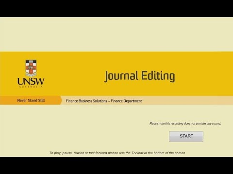 GL journal editing