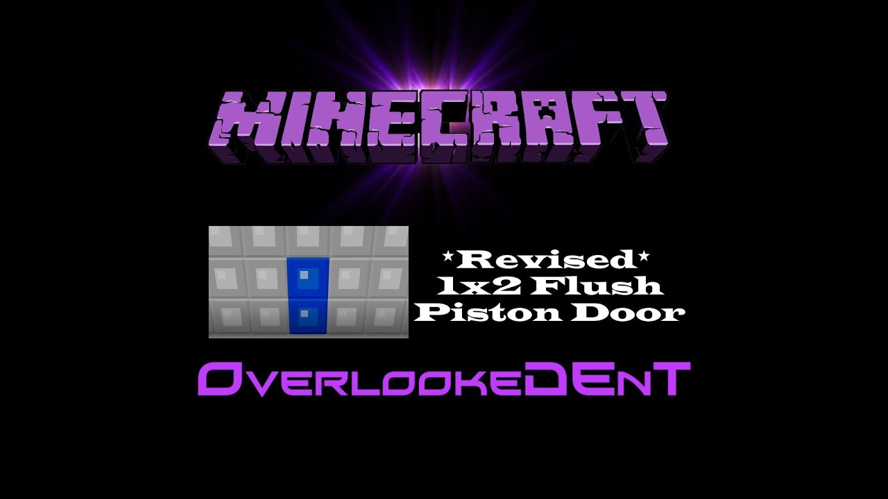 Piston Door 1x2 1x2 Flush Piston Door