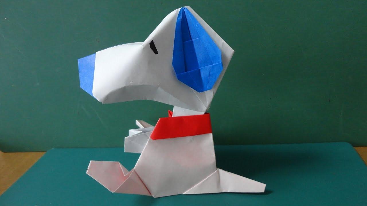 Snoopy Origami : 立体 花 折り紙 : 花 折り紙