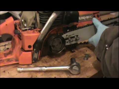 Chainsaw sprocket clutch Removal
