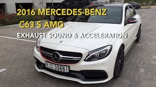 2016 Mercedes-Benz C63 S AMG Exhaust Sound & Acceleration