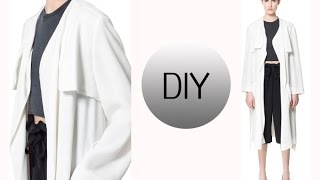 DIY FALL ESSENTIAL //  HOW TO MAKE A TRENCH COAT