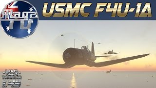 War Thunder - USMC F4U-1a - Realistic battle
