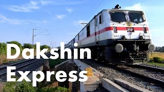 Dakshin Express with WAP7 South Central Railways !
