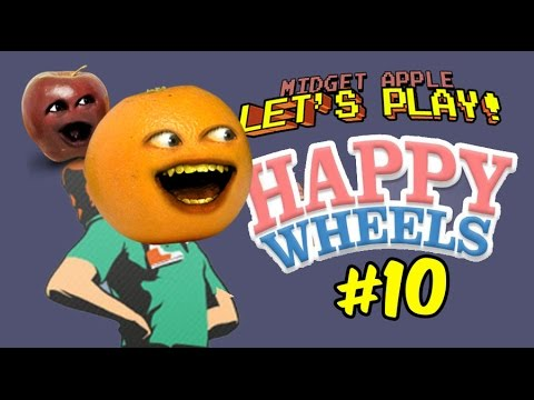 Midget Apple Let's Play Happy Wheels #10: POOFACE! w/ Annoying Orange