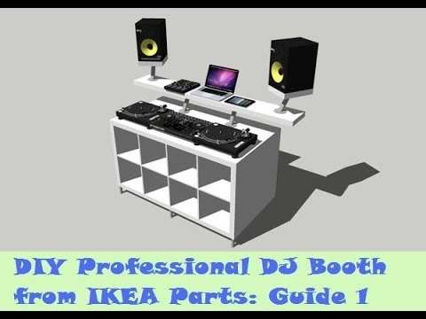 Guide: DIY DJ Booth from IKEA Parts - Build 1 - YouTube