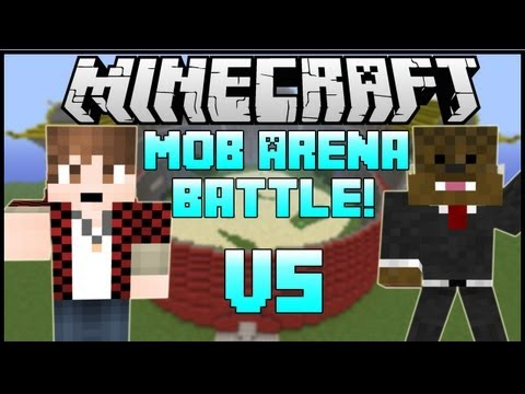 JEROMEASF VS. BAJAN CANADIAN Minecraft: Mob Battle Arena CLONE MOD