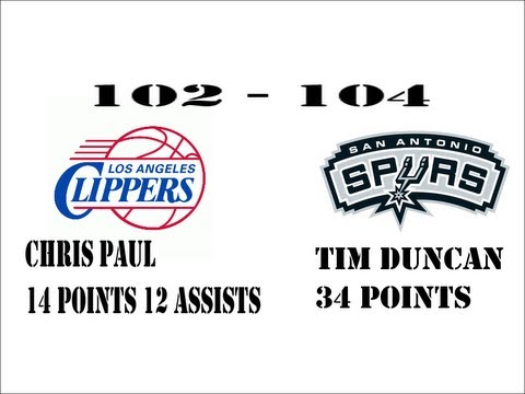 L.A. Clippers vs. San Antonio Spurs 102-104 TIM DUNCAN 34 POINTS + 3 POINT PLAY!(PICS FROM THE GAME)