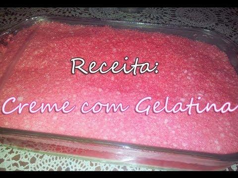 Creme Leite Receita Creme Com Gelatina Receita