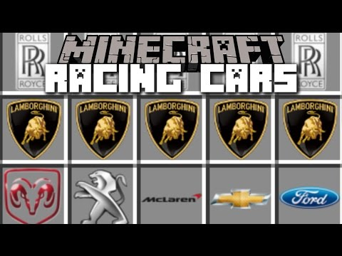Minecraft RACING CARS MOD / DRIVE LAMBORGHINI AND OTHER FAST CARS!! Minecraft
