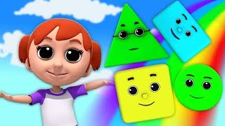 hình dạng bài hát | vần mẫu giáo | bài hát cho trẻ em | Shape Song | kids ABC TV Vietnam