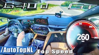 2019 BMW 6 Series GT 640d xDrive 260km/h AUTOBAHN TOP SPEED by AutoTopNL