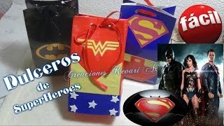 Dulceros de SuperHeroes Mujer Maravilla  Batman vs Superman