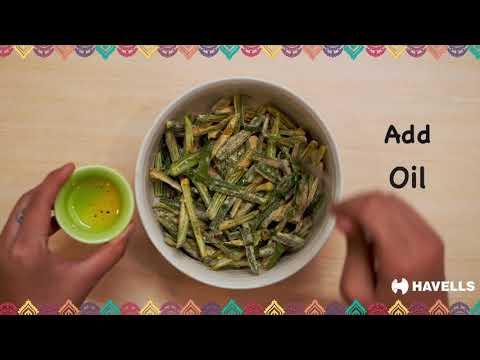 Havells Air Fryer - Kurkuri Bhindi Recipe
