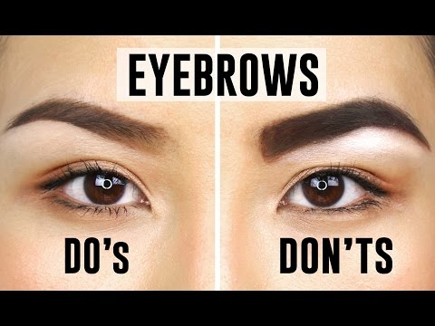 10 COMMON EYEBROW MISTAKES YOU COULD BE MAKING   Do's and Dont's