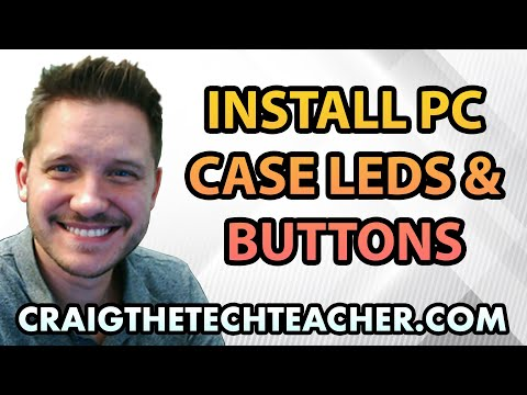 How To Install Computer Case Power, Reset and LED Connectors - Ep. 9